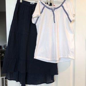 Girl's Old Navy Blouse & Skirt